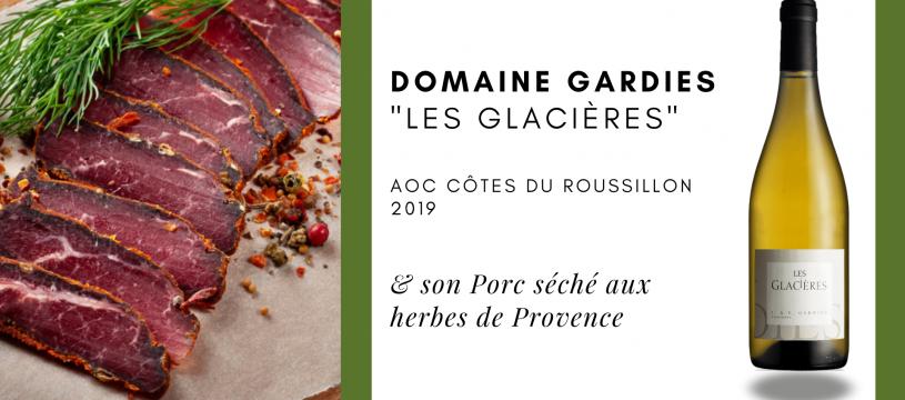 Accord mets et vin : Porc séché aux herbes de Provence